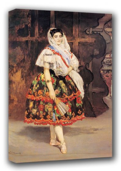 Manet, Edouard: Lola de Valence. Fine Art Canvas. Sizes: A3/A2/A1 (00678)